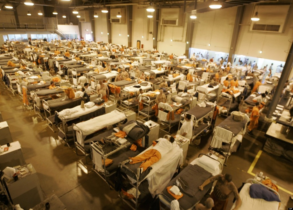 The California three strikes law has proven to be a major factor in the largely overcrowded prisons.